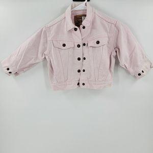 Vintage Levi's little girls pink denim jacket 3
